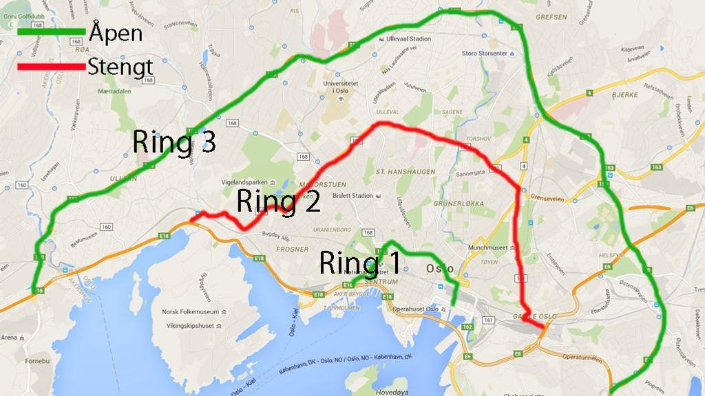 ring 3 oslo kart NAF advarer:   Redd dieselforbud ikke bedrer lufta i Oslo ring 3 oslo kart