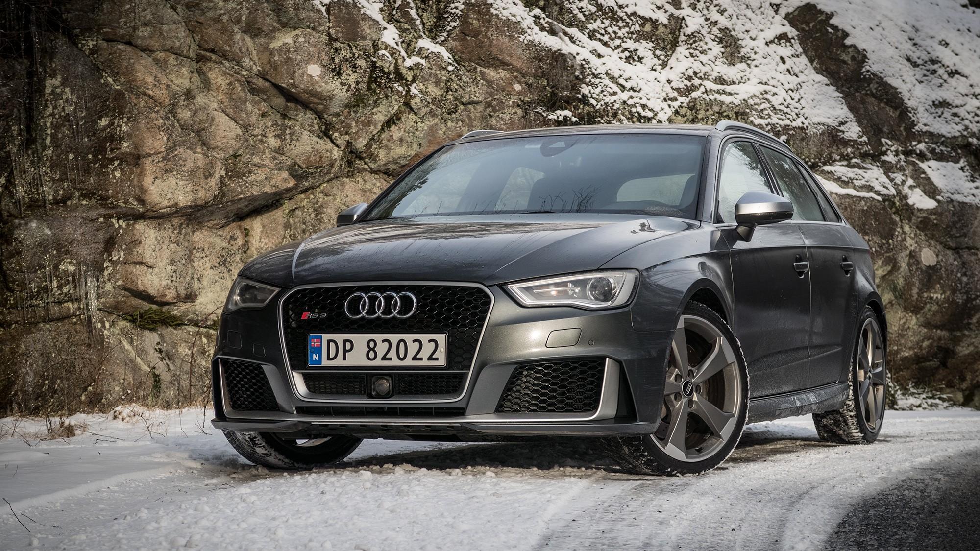 DISKRET: Audi RS3 er en skikkelig villtass av en bil, men designet tyder ikke på det.