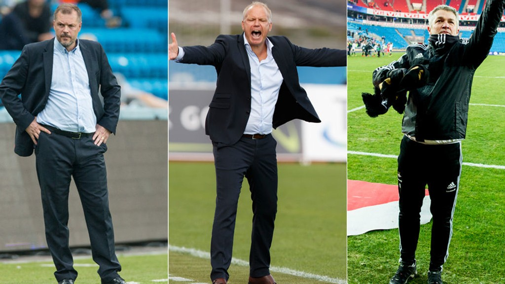 SPENNENDE SESONG: Kjetil Rekdal, Dag-Eilev Fagermo og Kåre Ingebrigtsen jakter heder og ære. Som de 13 andre trenerne i Tippeligaen. Noen blir fryktelig skuffet ...