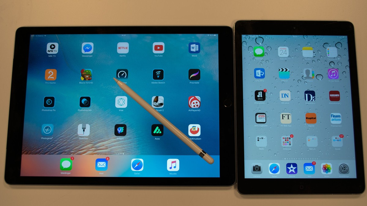 Apple ser et behov for en iPad som plasserer seg mellom den enorme iPad Pro og iPad Air 2.