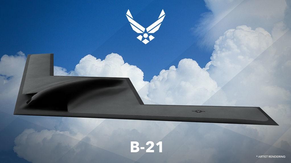 STEALTH-BOMBEFLYET B-21: Northrop Grumman har fått oppdraget med å utvikle bombeflyet B-21. Det amerikanske luftforsvaret bekrefter programmet med denne konseptskissen. Foreløpig er detaljene rundt flyet sparsomme. Legg imidlertid merke til vinduene i skissen over - det kan tyde på at flyet blir bemannet.
