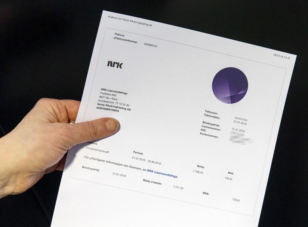 NÅ HASTER DET: Onsdag er siste frist for å betale purringen på NRK-lisensen.