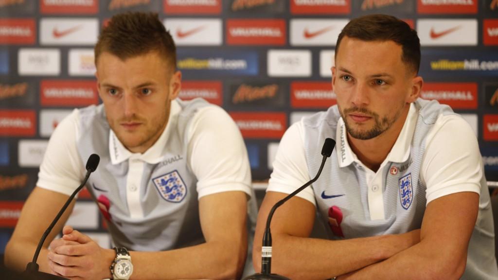 REVENE: Leicester Citys Jamie Vardy (til venstre) og Danny Drinkwater har begge blitt kalt opp til Englands landslag.