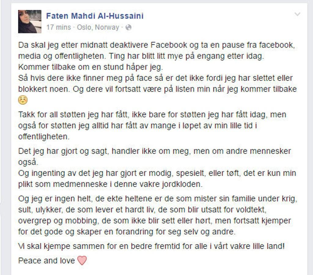 hvordan deaktivere facebook norge