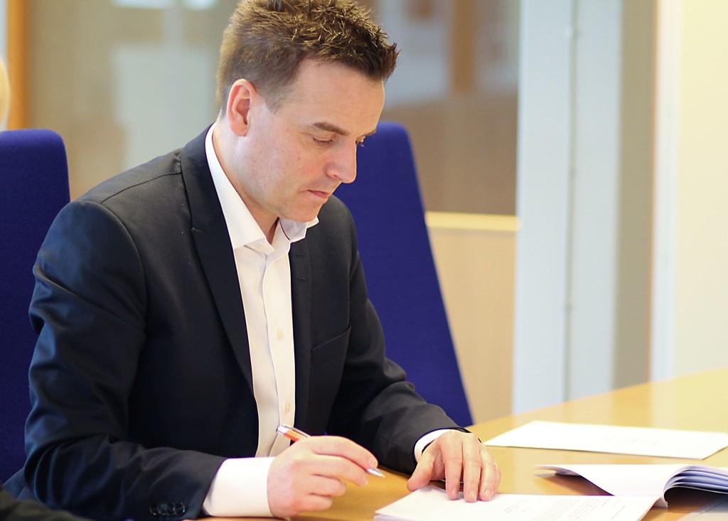 KRAFTIG NEDGANG: Administrerende direktør i Adecco i Norge, Torben Sneve (47), sier at den kraftige nedgangen i 22015 skyldtes problemene i oljebransjen, men at markedet nå har stabilisert seg.
