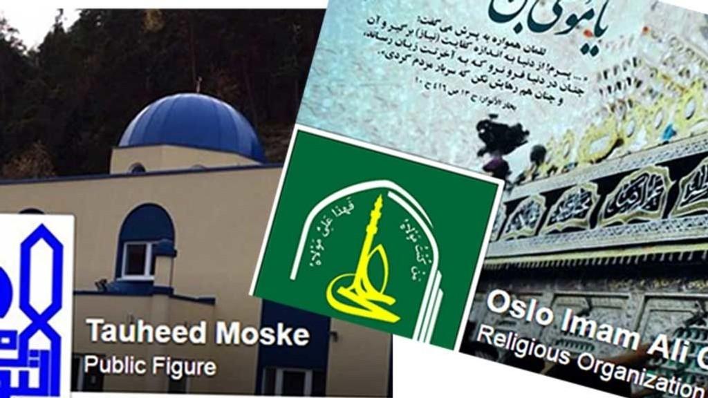 Oslo Imam Ali Center på Tveita og Tauheed Moske på Hauketo slik de presenterer seg på sin Facebook-side.