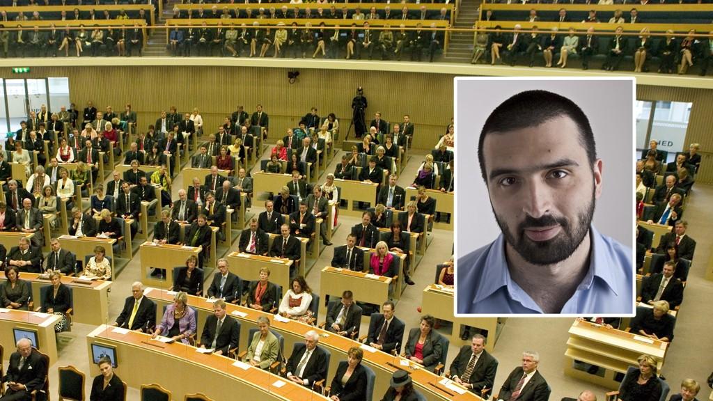 Ali Esbati, riksdagspolitiker for Vänsterpartiet i Sverige og Marte Michelets ektemann.