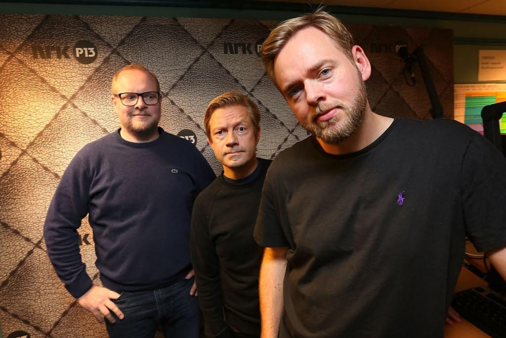 ØREGODT: Steinar Sagen, Bjarte Tjøstheim og Tore Sagen jobber nå med en ny sesong av «Radioresepsjonen».