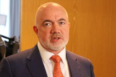 David O'Brien representerer Ryanair-ledelsen i Oslo onsdag.