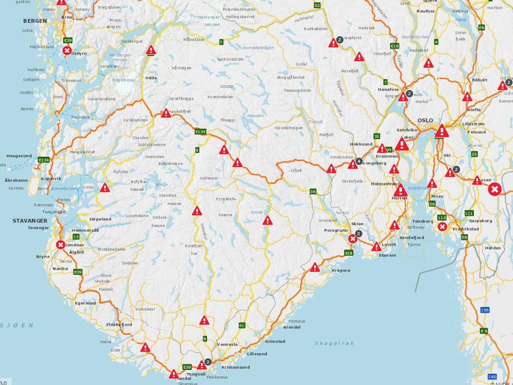 kart over bomstasjoner i trondheim TRAFIKK , STATENS VEGVESEN   Her blir det kø på norske veier i sommer kart over bomstasjoner i trondheim