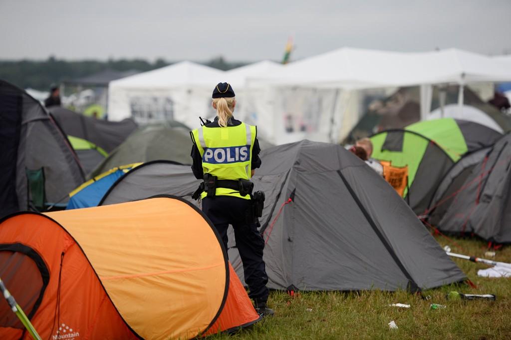 ANMELDELSER: Flere av festivalene i Sverige har i år hatt flere saker om overgrep og voldtekt. Her fra Bravalla Festival i Norrkoping. Her er fem voldtekter anmeldt, samt flere seksuelle overgrep.