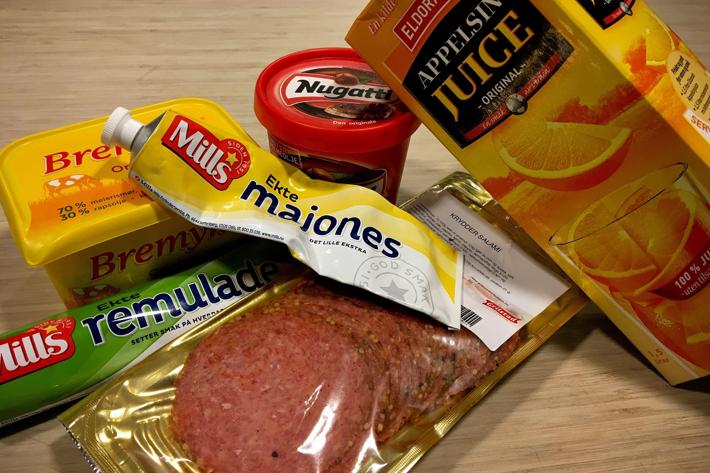 NEI-MAT: Det er en god del «hverdagsmat» som står på nei-listen dersom en ønsker å slanke bort ekstra kilo på kort tid. Felles for slike produkter er at de inneholder mye sukker eller usunt fett.