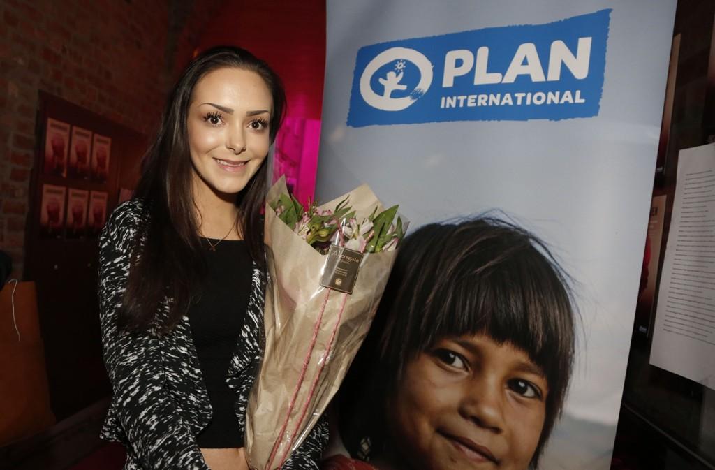 VANT PRIS: Andrea Voll Voldum vant Jenteprisen 2016, som deles ut av Plan Norge.