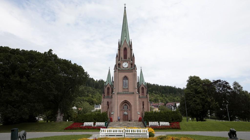 Bragernes kirke i Drammen kommune. Illustrasjonsfoto.