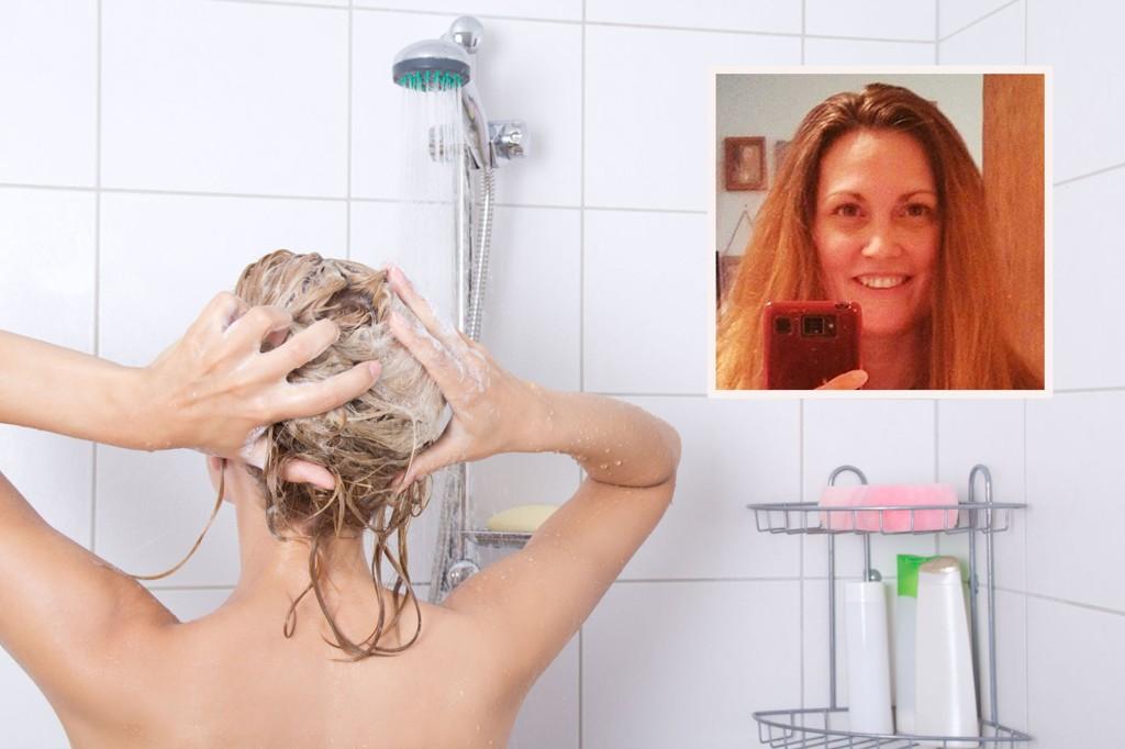 SJAMPO: Hva skjer med håret hvis du slutter å bruke sjampo? Det vokser fortere, ser sunnere ut og blir friskere, sier Wendi Tibbets, som ikke har brukt sjampo på seks år.