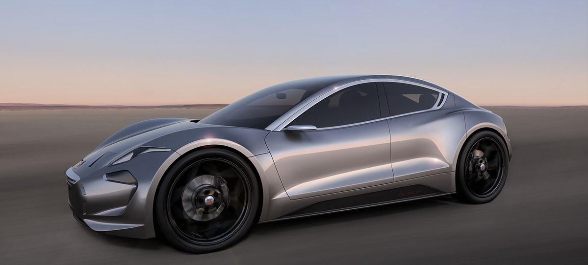 NY ELBIL: Fikser EMotion ser ut som en miks av Corvette og Tesla Model S.