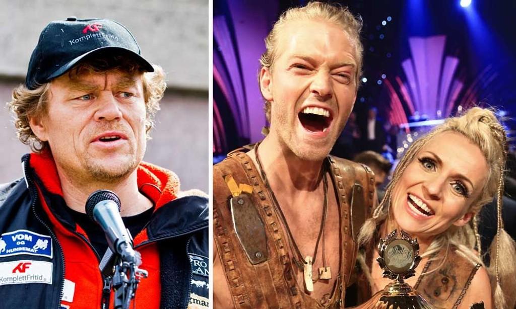 SEERMAGNETER: Men det var TV 2 som trakk det lengste strået lørdag kveld. Eilev Bjerkerud og dansepartner Nadya hadde langt flere seere enn Lars Monsen (tv).