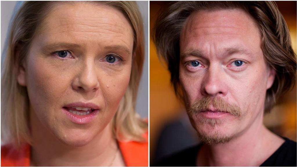 Munnhuggeri mellom statsråd Sylvi Listhaug (Frp) og skuespiller Kristoffer Joner (Ap).