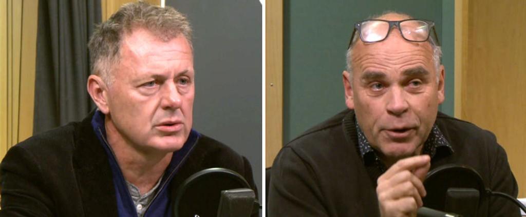 DEBATT: Gunnar Stavrum og Ingebrigt Steen Jensen møttes til debatt i Politisk Kvarter.