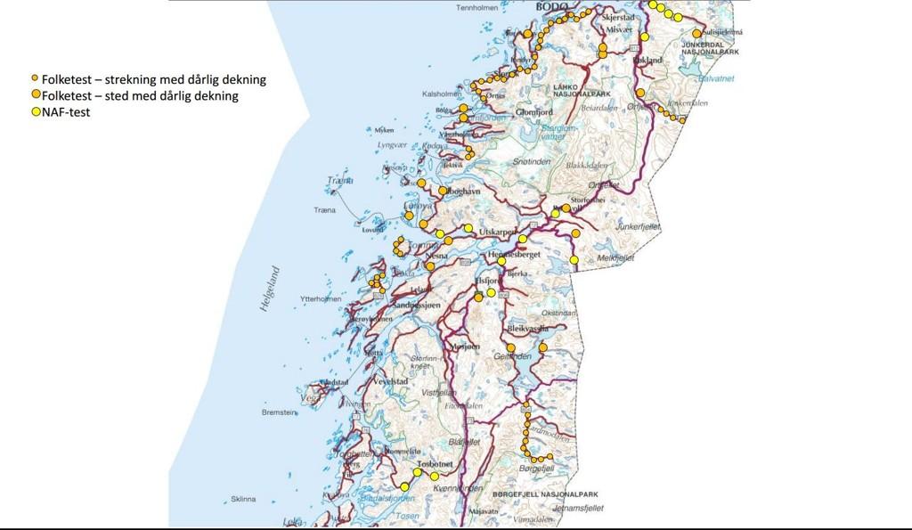 dab dekning kart NAF: Her er det dårlig DAB dekning dab dekning kart