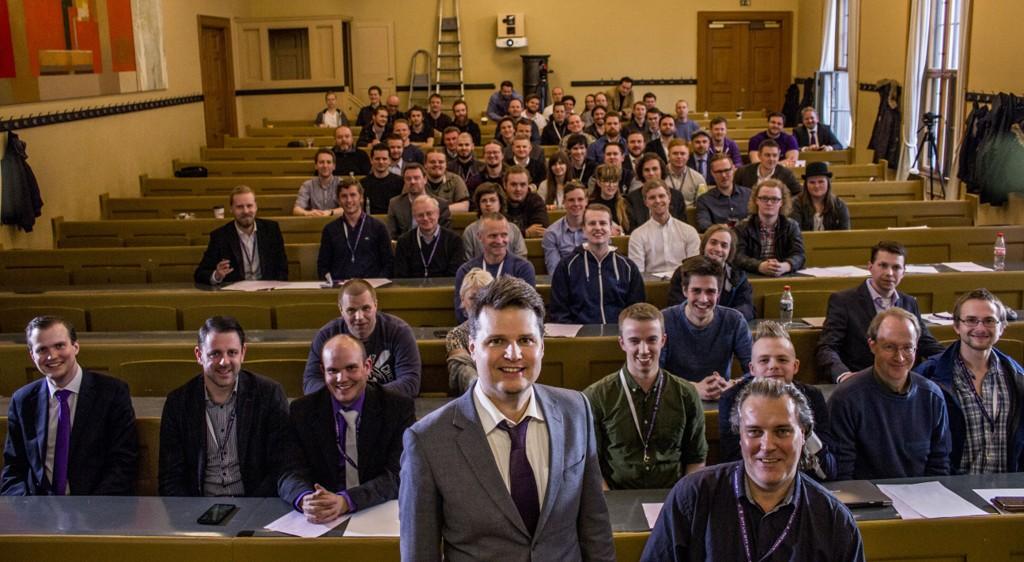 Liberalistenes landsmøte 2016, med partileder Arnt Rune Flekstad og nestleder Roald Ribe i front.