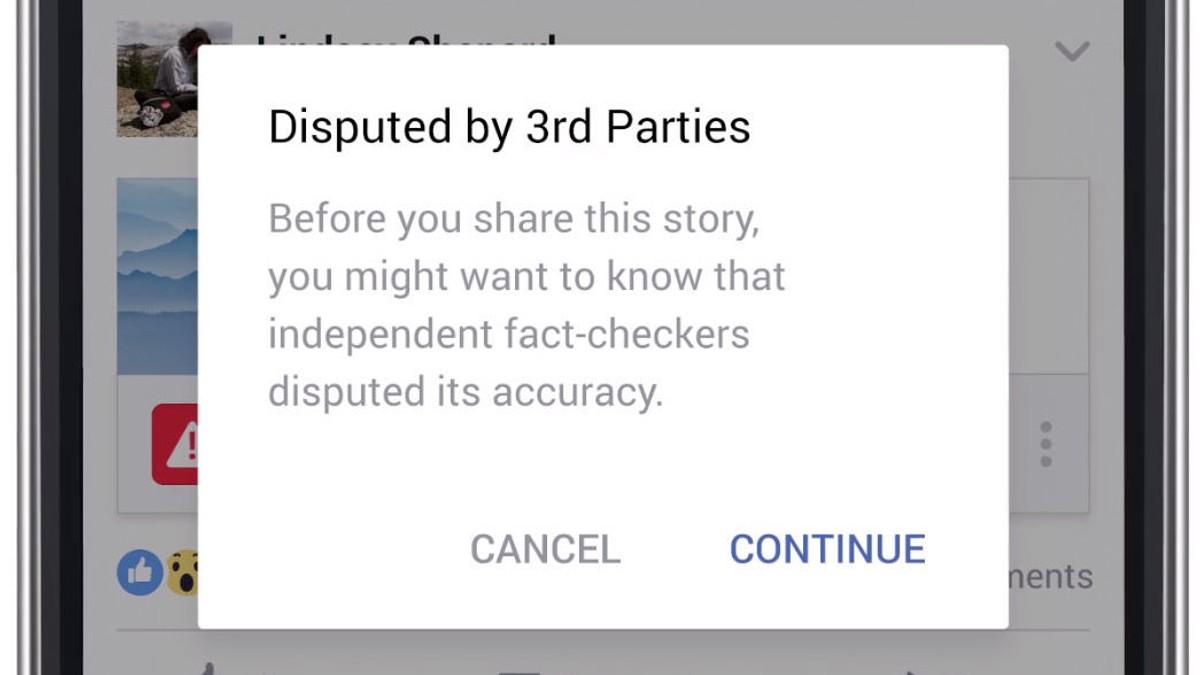 Dersom en tilstrekkelig mengde medier mener en artikkel er falsk, vil den bli flagget av Facebook og brukere får en advarsel om de forsøker å dele den.