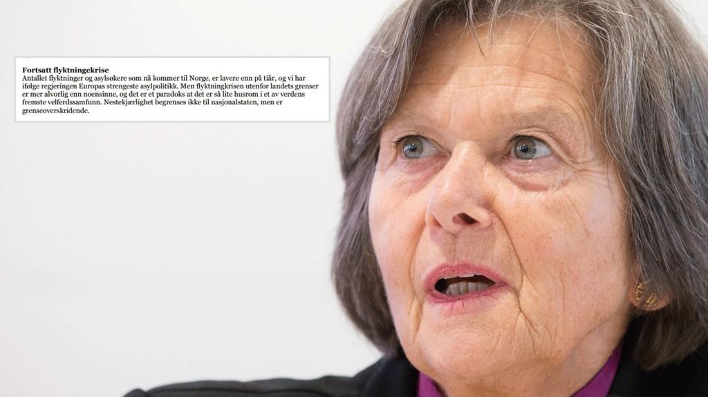 Brevet fra Bisperådet er et flengende oppgjør med norsk asylpolitikk. Brevet er signert av preses, biskop Helge Haugland Byfuglien.