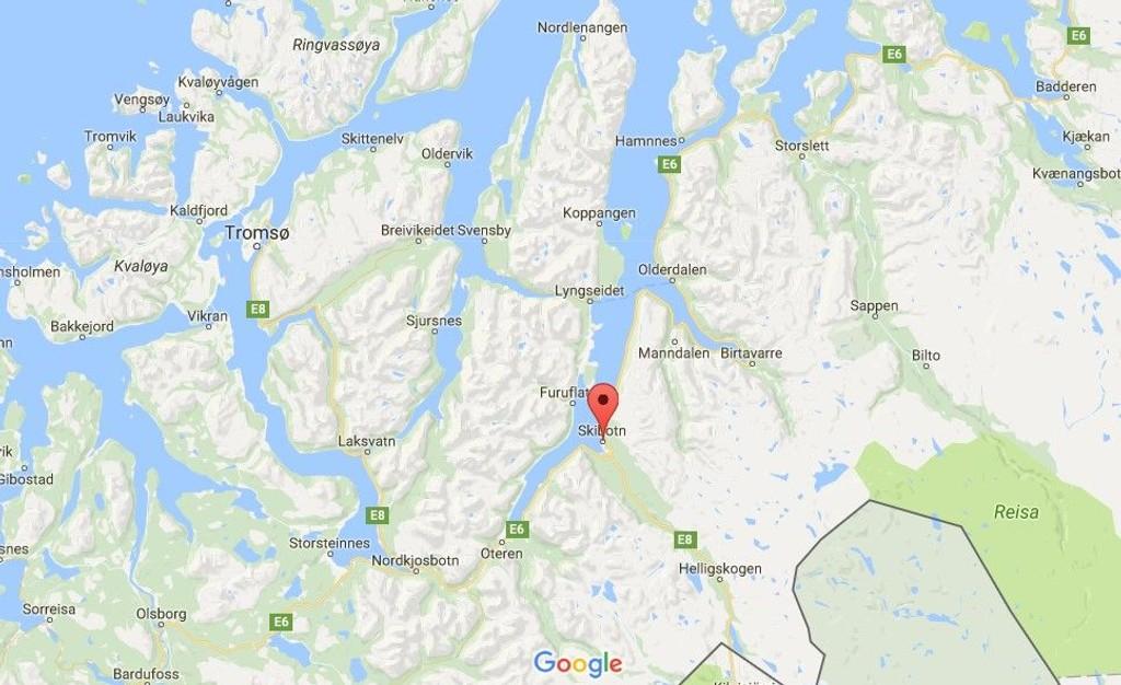 skibotn kart Pistolmann ralandpostbud i Skibotn skibotn kart