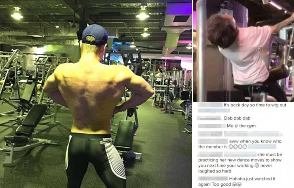 Bodybuilderen har nå slettet Instagram-kontoen sin, men videoen av kvinnen er allerede postet på YouTube.