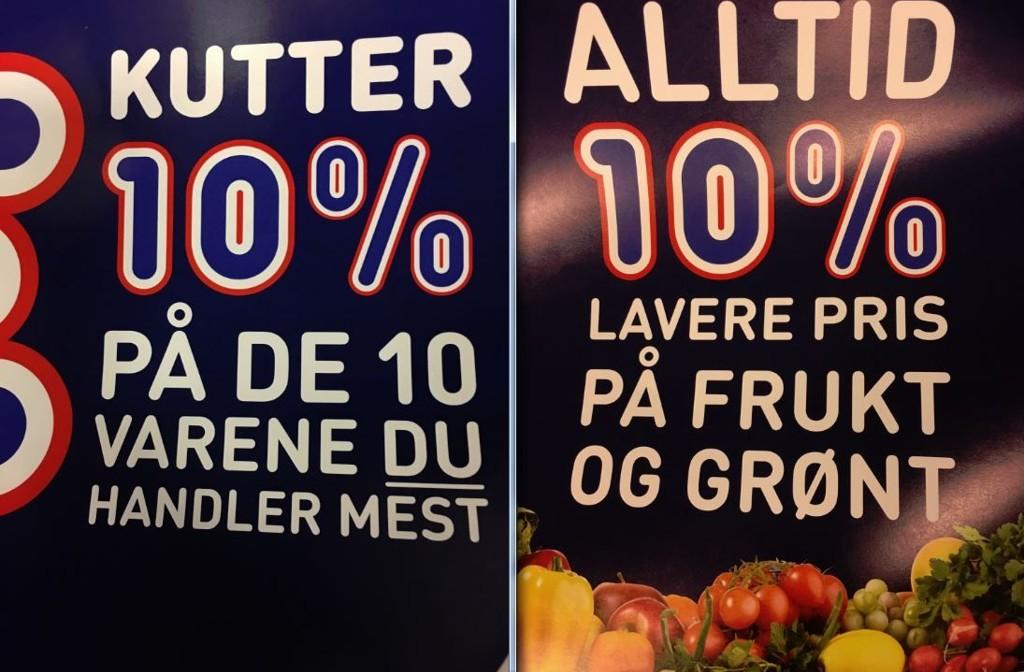 PRISKRIG. Rema 1000 innfører 10 prosent rabatt på frukt og grønt, samt 10 prosent på varene du handler mest.