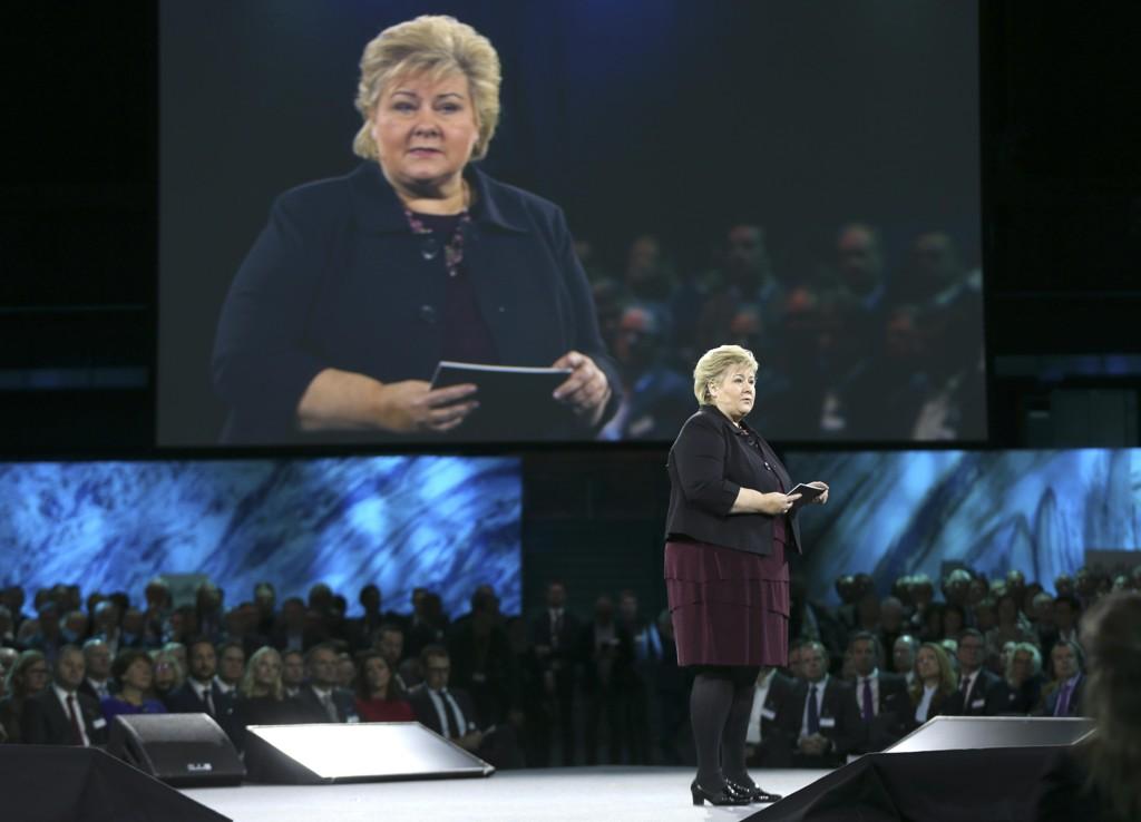 Statsminister Erna Solberg (H), her under NHOs årskonferanse denne uken, lanserte lørdag de fire sakene Høyre kommer til å fokusere på fram mot høstens valgkamp.