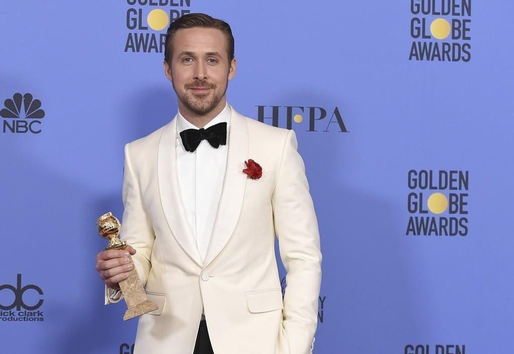 Favoritten «La La Land» tok sju priser av sju mulige under årets Golden Globe-utdeling. Ryan Gosling (bildet) fikk hovedrolleprisene for innsatsen i «La La Land».