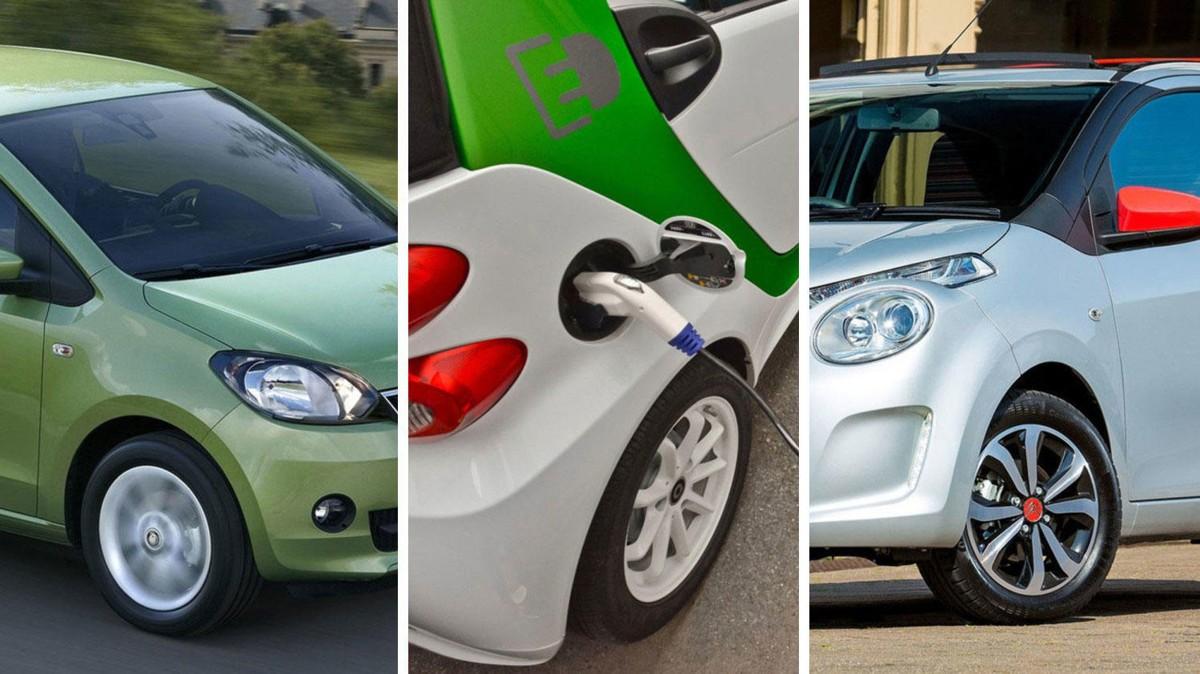 Nybil trenger ikke koste veldig mye. Her er tre eksempler: Fra venstre Skoda Citigo, Smart ForTwo Electric og Citroën C1.
