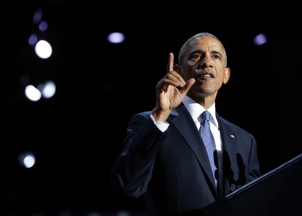 USAs president Barack Obama under tirsdagens tale i Chicago. foto:
