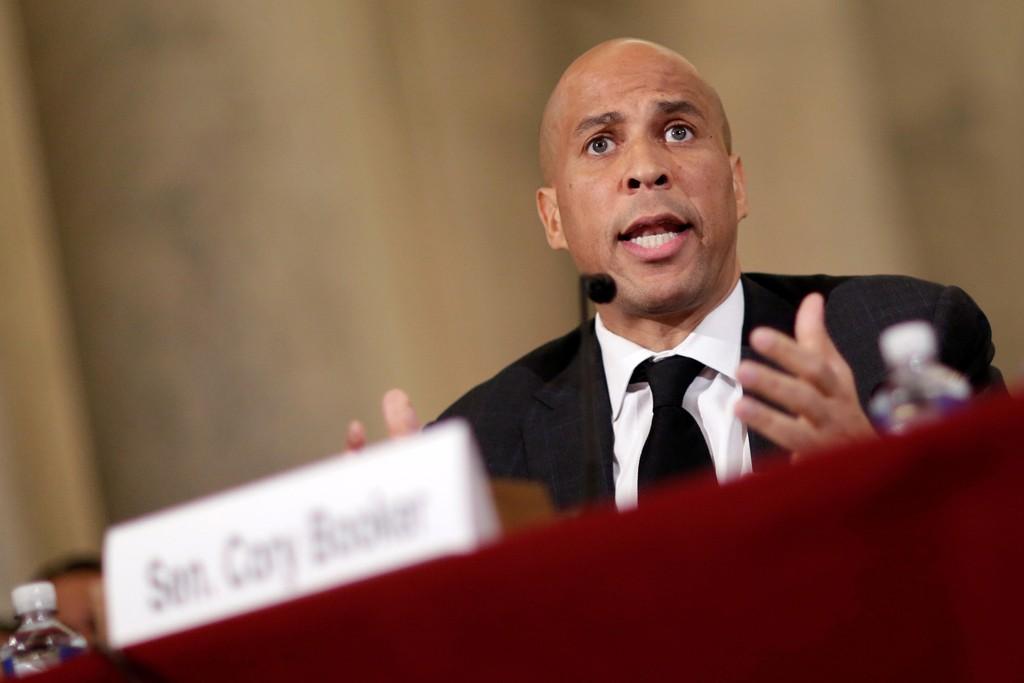 CORY BOOKER talte imot nominasjonen av Jeff Sessions i Senatet onsdag.
