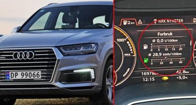 IMPONERT: Brooms redaksjonssjef, Vegard Møller Johnsen, har testet Audis ladbare stor-SUV Q7 e-tron – og latt seg imponere.