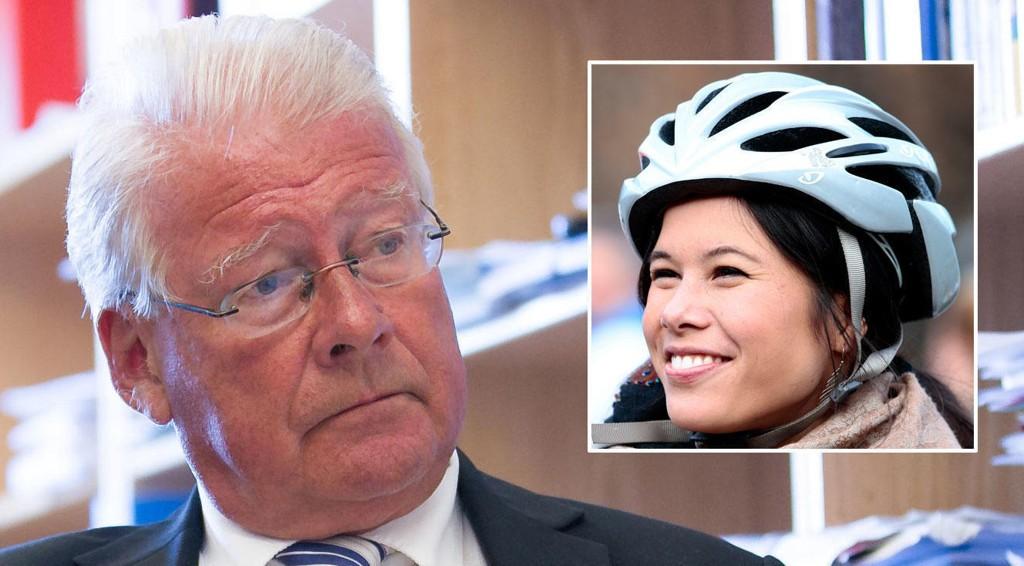 MISFORNØYD: Frps gruppeleder i Oslo bystyre, Carl I. Hagen, krever en gjennomgang av håndteringen av søppelkaoset i Oslo, men kan ikke nå si om han vil støtte mistillittsforslaget mot Oslo-byråd Lan Marie Nguyen Berg (innfelt).