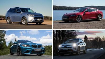 ER NORGES MEST SOLGTE BILER VERDT PENGENE? BMWs 2-serie kom seg akkurat inn på listen over Norges mest solgte biler i 2016. Teslas Model S er fremdeles en populær bil, men faller fra 5. plass både i 2014 og 2015 til 16. plass i 2016. Den kan altså ikke måle seg med Toyotas RAV4 på 3. plass og den ladbare hybriden Mitsubishi Outlander PHEV på 2. plass. Gode salgstall, men er bilene verdt pengene? Vi har testet samtlige av Norges 20 mest solgte biler. Finn din favoritt nedenfor.