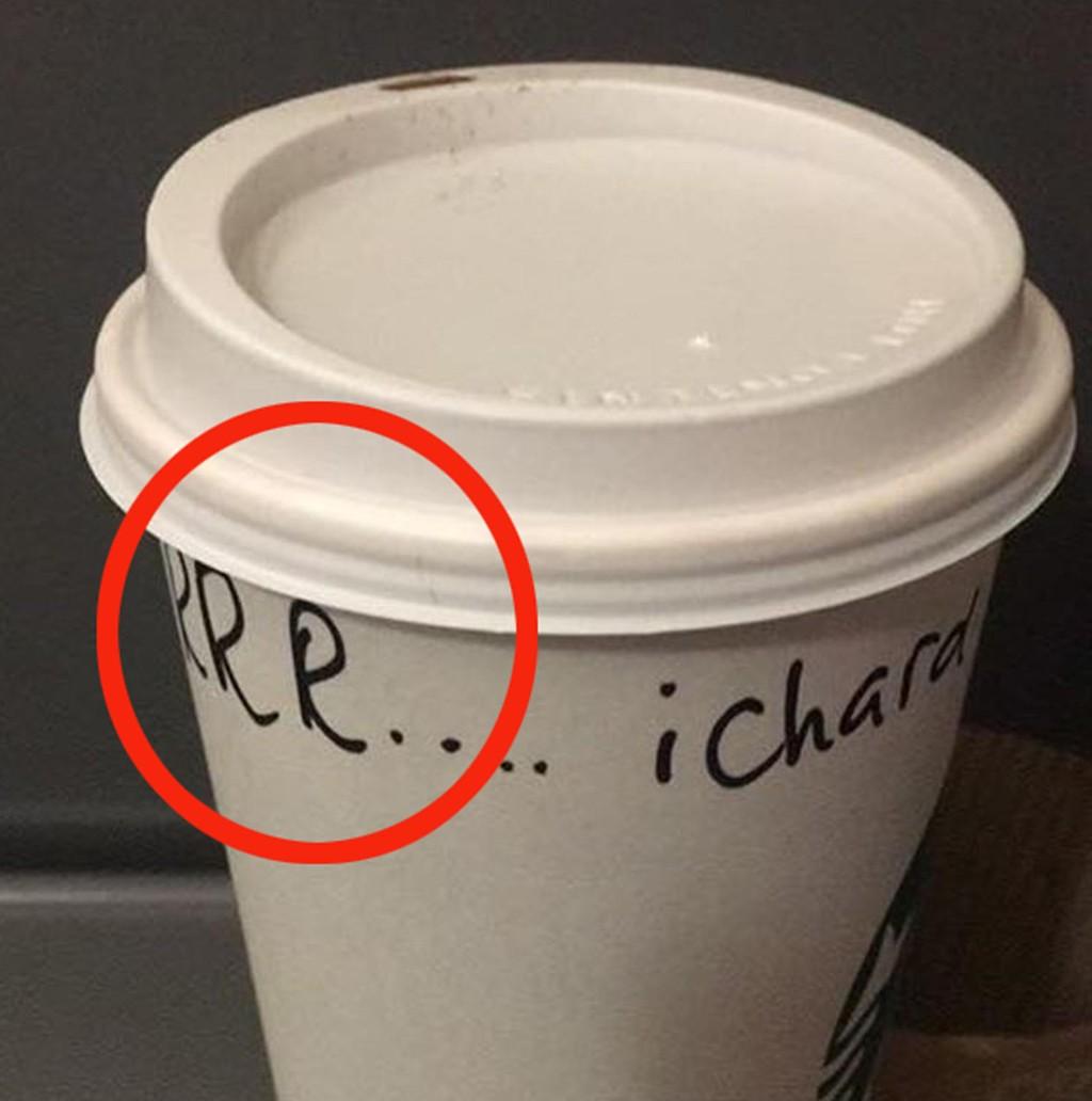GJORDE NARR: Den Starbucks-ansatte gjorde narr av Richard Procters stamming da han skulle kjøpe kaffe.