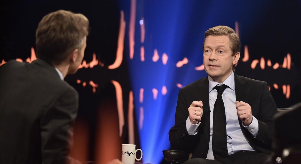 Bjarte Tjøstheim blir nervøs før TV-opptredener som dette.