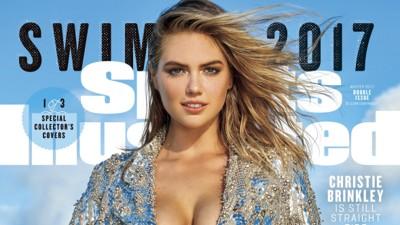 FORSIDEPIKE: For tredje gang er det modellen Kate Upton som pryder forsiden av Sports Illustrated Swimsuit Edition.