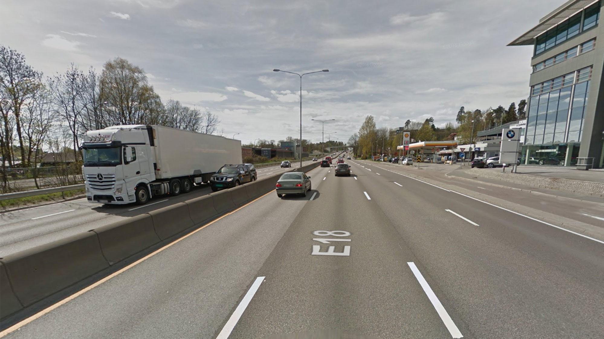 Byrådet i Oslo ønsker å gjøre om motorveien E18 gjennom Oslo til en bygate og bygge hus tett inntil veien.