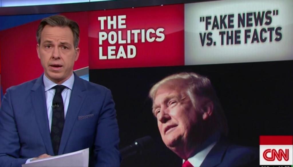 JAKE TAPPER, en av de mest profilerte programlederne i CNN, svarer Donald Trump.