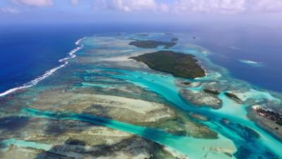 UNDERSJØISK KONTINENT: Forskere vil slå fast at det skjuler seg et helt kontinent vest for Australia, hvor New Zealand og Ny-Caledonia stikker opp som topper. Kontinentet omtales som Zealandia. Bildet er en illustrasjon og tatt fra øya San Blas utenfor kysten av Panama.