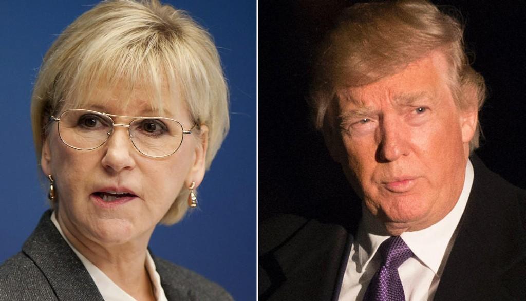 Sveriges utenriksminister Margot Wallström mener det er bra at USAs president Donald Trump nå har klargjort hva som gjorde at han i helgen trakk Sverige fram som et skrekkeksempel på hva innvandring kan gjøre med et land