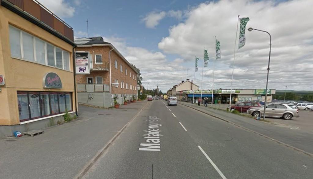 Illustrasjonsfoto: Deler av sentrum i den svenske kommunen Övertorneå.