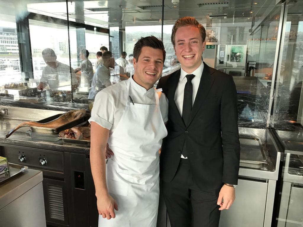 MAAEMO: Jordan Bailey og Benjamin Ausland er strålende fornøyde med å beholde 3 stjerner i Michelin-guiden.