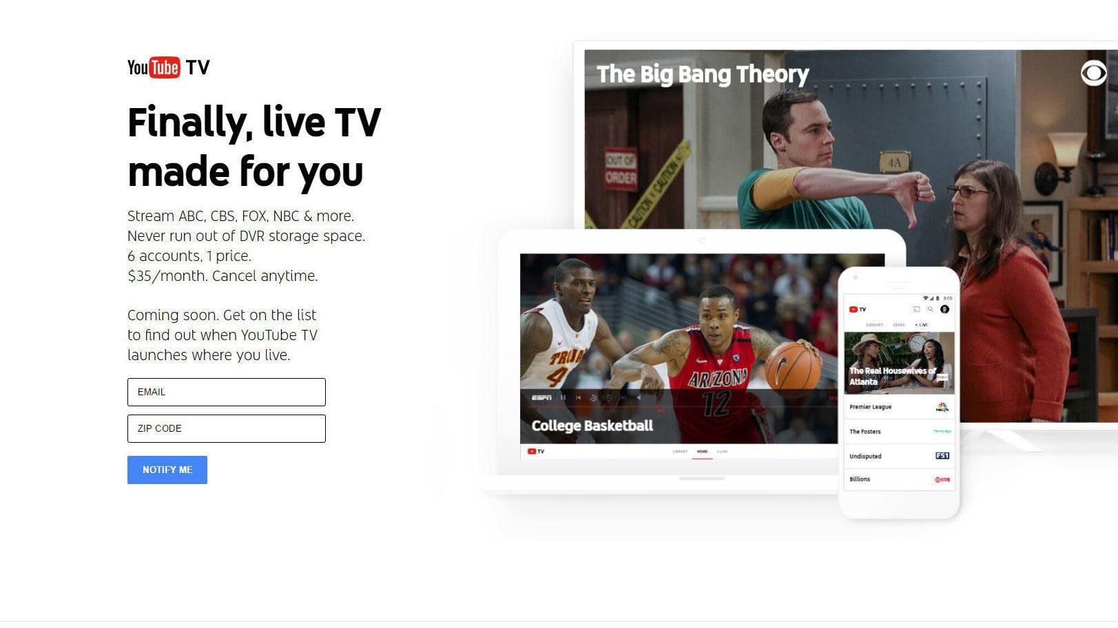YOUTUBE TV: YouTube lanserer hva de håper skal bli tradisjonell TV for YouTube-generasjonen.