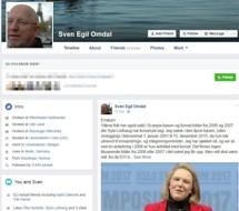 Sven Egil Omdal - Facebook, hevder Sylvi Listhaug bruker korset for politisk vinning.