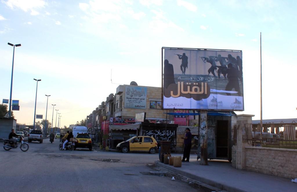 Fembarnsmoren skal ufrivillig ha blitt tatt med til IS sitt hovedsete, Raqqa i Syria. Bildet er tatt i oktober 2014.